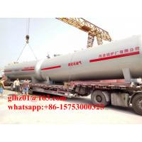Ghana 30 Tons LPG Storage Tank Q345R Steel Made Ground Type LPG Tank