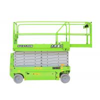 China Green Self Leveling Scissor Lift For Building on sale