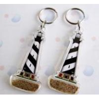 China Acrylic with sand key chain on sale
