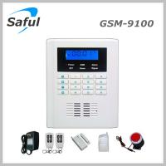 Quality Saful GSM-T1 Saful GSM-9100 GSM & PSTN Security Alarm System Display Anti-thief alarm burglar alarm system for sale
