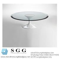 Quality CE& SGS certificated Excellence quality bevelled edge table top glass for sale