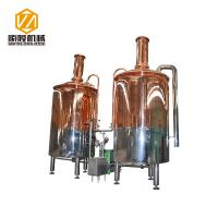 Quality Red Copper Mini Micro Beer Brewing Equipment 3HL Semi Auto / Automatic Control for sale