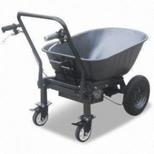 Heavy duty power assist wheelbarrow with 250kg 550lb for Motorized wheelbarrows for sale