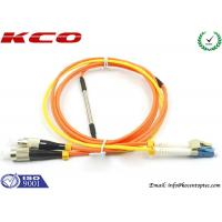 China Mode Condition Fiber Optic Patch Cord / FC to LC Multimode Duplex Fiber Optic Cable on sale