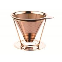 Quality Double Layer Custom Paperless Coffee Dripper With Cup Stand , FDA LFGB Standard for sale