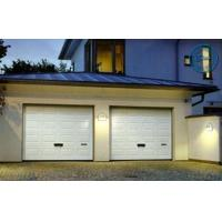 Quality Artistic Brown Overhead Garage Doors Folded With Thermal Insulation for sale