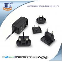 Quality Interchangeable Plug AC DC  Wall Adapter 24w Max Output With LED Light for sale