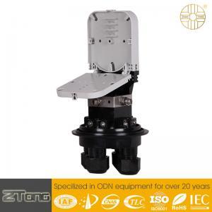 6-12F Fibers / Tray Fibre Optic Splice Box 90°Opening Angle Design GJS-8004
