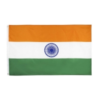 Quality India Mesh Polyester 115g Custom Asia Country Flag Digital Printing for sale