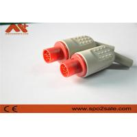 Quality IBP connector compatible for Hellige IBP adapter cable with red color for sale