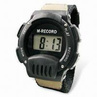 Quality Digital Watch with Nine Seconds Recording Function, CE Approved for sale