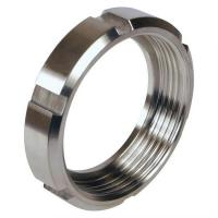 Quality Stainless Steel Round Sanitary Union Nut DIN Sanitary Pipe Fittings for sale