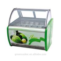Quality Electric Gelato Display Case , Single Temperature Commercial Display Freezer with 1800mm Length for sale