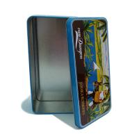 Quality rectangular food tin container for sale