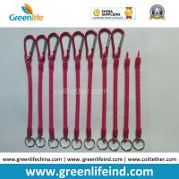 Quality Customized Size and Red color 4'' to 40'' Multi-purpose Utilities Plier Coiled Lanyards for sale