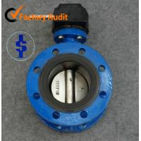 Quality SS Hard Sealing Double Flanged Butterfly Valve Pneumatic Actuator , EPDM or NBR Seat for sale
