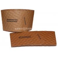 Quality Kraft Paper Coffee Cup Sleeves Custom Print For Coffee Cups Flexo Print for sale