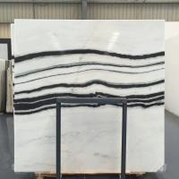 Buy cheap Panda White Natural Marble Tile For Flooring Layout , Book Matched Marble Stone from wholesalers