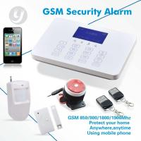 Quality Touch Keypad SMS Gsm Alarm System Wireless Burglar LCD Display for sale