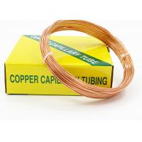 Quality HAVC Copper Capillary Tube For Cooling Pipes Outer Diameter 1.83 - 3.69 MM for sale