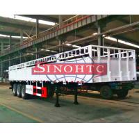 Quality Flatbed Side Wall Container Semi Trailer 40 Ton Payload Capacity Three Axle for sale