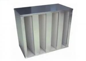 Quality High Air Flow V Bank Type HEPA Air Filter Low Resistance 595 * 595 *292 for sale