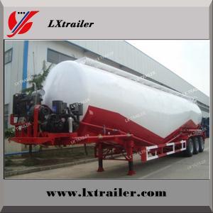 V / W Type Cement Trailer , Truck Powder Bulk Cement Tank Semi Trailer