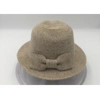 Buy cheap Women's Pretty Vintage Foldable Straw Hat w/Large Accent Bowtie from wholesalers