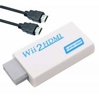 Quality Wii to HDMI Converter Adapter with 3ft High Speed HDMI Cable Wii2HDMI Adapter Output Video Audio with 3.5mm Jack Audio for sale