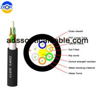 Quality Aerial Duct Non Metallic Fiber Optic Cable GYFTY 48 Core Crush Resistance for sale