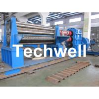 Quality Galvanised Two Rollers Corrugated Roll Forming Machine 4 - 8mm with Panasonic PLC Control System for sale