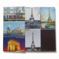 Quality Fridge Magnets, Made of Crystal Glass, Die-cut PVC and Paper, Environment-friendly for sale