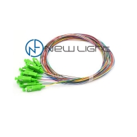 Quality 1M 0.9mm Buffer 12 Strand Fiber Optic Cable MM SM for sale