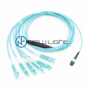 Quality Aqua LC Duplex Pre Terminated 12 Core MPO MTP Cable for sale