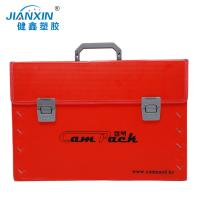 Quality Custom Corrugated Plastic Shipping Box With Handles/ Colored Coroplast Box for sale