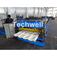 Buy Automatic PLC Controlled Tile Roll Forming Machine For Steel Metal Glazed Tile at wholesale prices