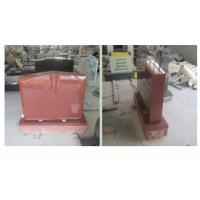 Quality Red Polished Sketch Granite Memorial Headstones 37.6Mpa Bending Strength for sale