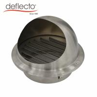 Quality Grey Wall Mounted Air Vents , 6 Inch 201 Stainless Steel Round Air Vents Hood for sale