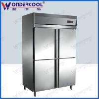 Quality 4doors 201/304 stainless steel kitchen commercial refrigerator chiller fridge freezer for sale