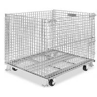 Quality 500 - 1000kg Metal Wire Container Storage Cages For Material Handling for sale