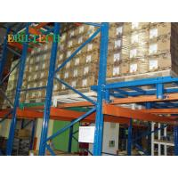 Quality Industrial Q235b Push Back Racking , Warehouse Pushing Back  Pallets With Forklift for sale