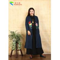 Buy Adults Casual Chinese Style Winter Coats Embroidered Anti Shrink For Outdoor at wholesale prices