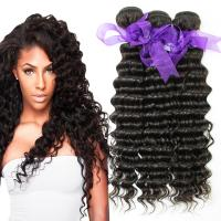 Quality Peruvian Deep Wave Hair Bundles No Shedding , Peruvian Hair Deep Body Wave  for sale