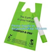 China Compostable eco-friendly material non toxic food grade t shirt bread packaging plastic bag on sale