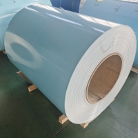 Quality Furniture Light Blue 1000mm Width T8 Painted Aluminum Coil for sale