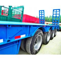 Quality 80 Tons 4 Axles Low Bed Semi Trailer 12 Pcs Tyre 11.00R20 Tyre Model for sale