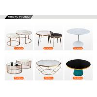 Stainless Steel Frame Carranza White Marble Table Top