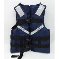 Quality 300D Oxford Navy Blue Men's Watersports Life Jacket SOLAS Reflective Tape Size S, M, L, XL for sale