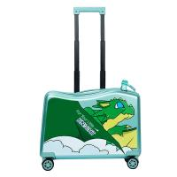 Quality NHL021-7 high quality PC 20 inch kids scooter trolley case 3D cartoon travlling universal wheel  suitcase for sale