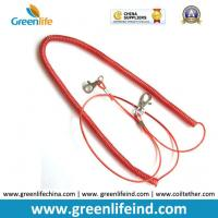Quality Red Stopdrop Tooling Coil Lanyard Cable W/Thumb Hook for sale